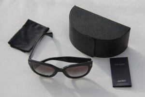 Prada Damen-Sonnenbrille SPR 17OS 1AB0A7, Schwarz mit Silber