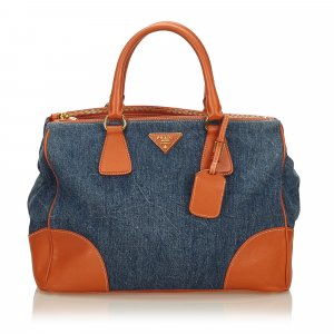 Prada Denim Boston Bag