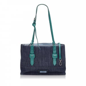 Prada Denim Etiquette Satchel