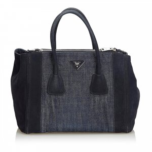 Prada Denim Twin Pocket Satchel