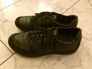 Prada Lace-Up Sneaker black leather