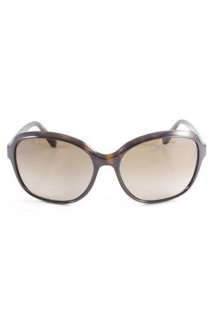 Prada eckige Sonnenbrille dunkelbraun Elegant