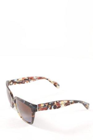 Prada eckige Sonnenbrille Farbtupfermuster Casual-Look