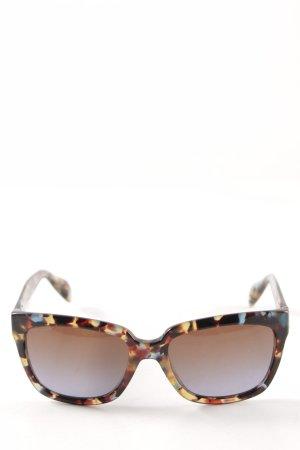 Prada Hoekige zonnebril kleurvlekken patroon casual uitstraling