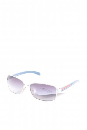 Prada eckige Sonnenbrille mehrfarbig minimalistischer Stil