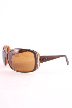 Prada eckige Sonnenbrille mehrfarbig Retro-Look