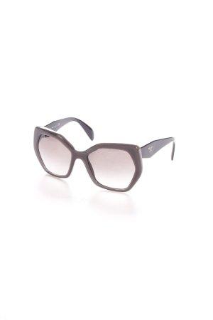 Prada eckige Sonnenbrille schwarz-grau Logo-Applikation