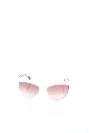 Prada Hoekige zonnebril schildpad patroon vintage uitstraling