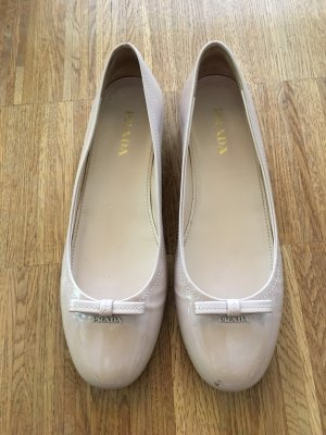 Prada Patent Leather Ballerinas nude
