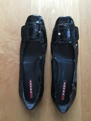 Prada Patent Leather Ballerinas black leather