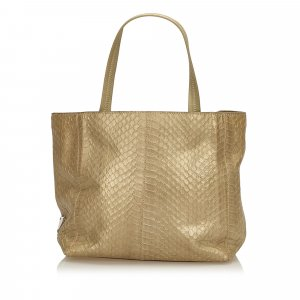 Prada Tote gold-colored leather
