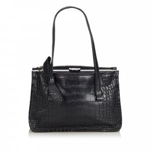 Prada Embossed Leather Tote Bag