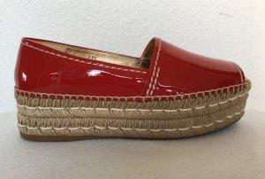 Prada Espadrillas rosso mattone-rosso scuro Pelle