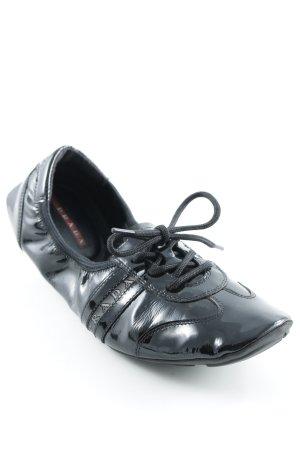 Prada faltbare Ballerinas schwarz Casual-Look