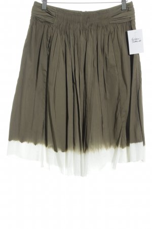 Prada Faltenrock grüngrau-weiß Casual-Look