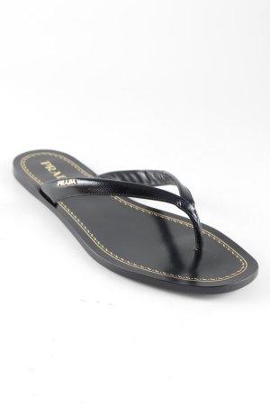Prada Flip-Flop Sandals black-gold-colored elegant