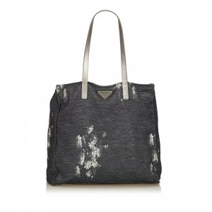 Prada Floral Canvas Tote Bag