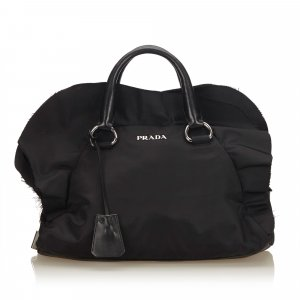 Prada Frilled Nylon Handbag