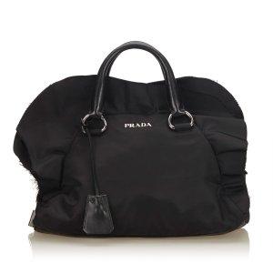 Prada Frilled Nylon Handbag