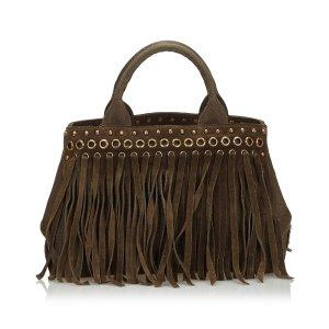 Prada Fringed Canapa Handbag