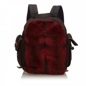 Prada Fur Backpack