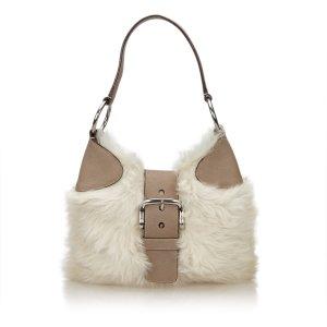 Prada Hobos white fur