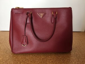 Prada Handbag gold-colored-carmine leather
