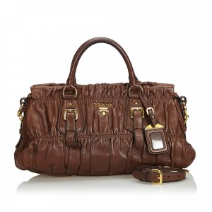 Prada Gathered Leather Satchel