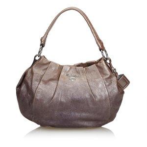 Prada Gathered Leather Shoulder Bag