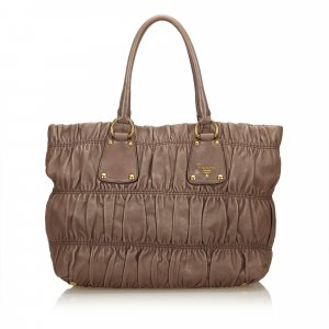 Prada Gathered Leather Tote