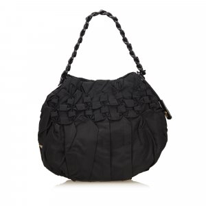 Prada Gathered Nylon Chain Shoulder Bag