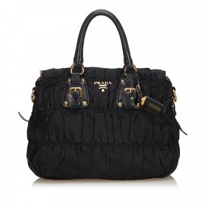 Prada Gathered Nylon Satchel