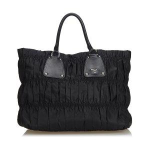 Prada Gathered Nylon Tote Bag
