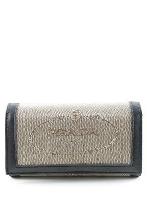 Prada Wallet beige-dark brown business style