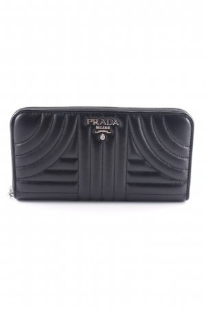 "Prada Portefeuille ""Classic Zip Wallet Smooth Leather Black"" noir"