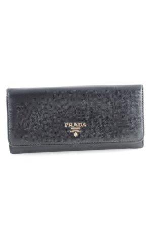 Prada Geldbörse schwarz-goldfarben klassischer Stil