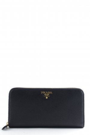 "Prada Portefeuille ""Zip Around Saffiano Wallet Nero"""