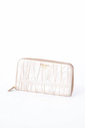 PRADA - Geldtasche mit Raffungen Gold