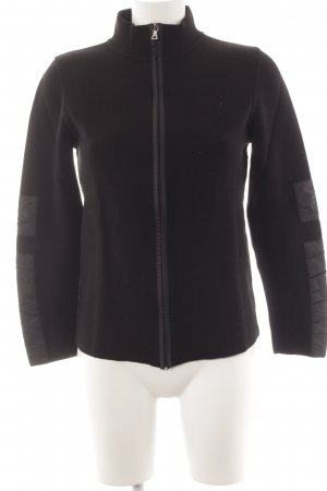 Prada Coarse Knitted Jacket black casual look