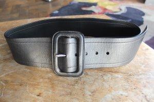 Prada Cinturón de cuero marrón-negro Cuero