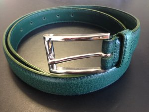 Prada Belt forest green-silver-colored
