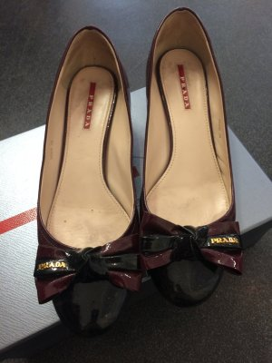 Prada Low Shoes bordeaux-black