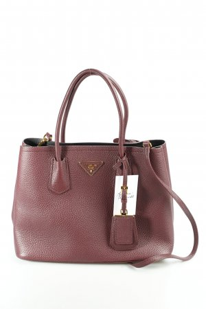 Prada Handtasche bordeauxrot Business-Look