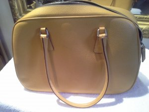 Prada Sac Baril brun sable cuir