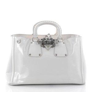 Prada Handtasche Crystal Weiß Lackleder NP2450€