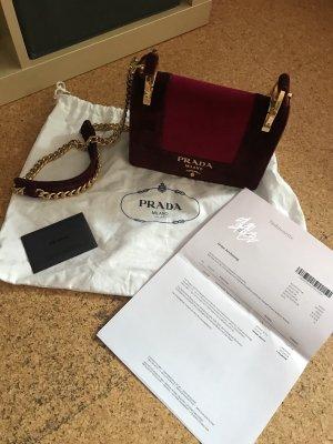 Prada Handtasche Designertasche Samt Abendtasche