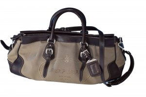 Prada Carry Bag dark brown-beige