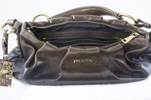 Prada Pochette bronze cuir