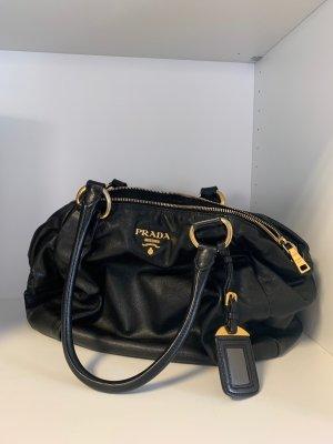 Prada Handtasche schwarz/gold