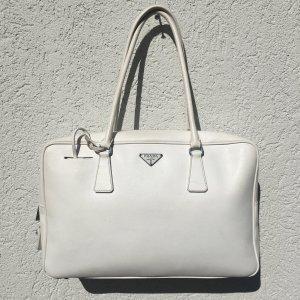 Prada Handtasche, weiß, groß, perfekter Businessbegleiter!